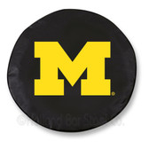 Michigan Wolverines Black Tire Cover, Large