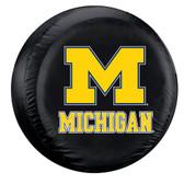 Michigan Wolverines Black Spare Tire Cover