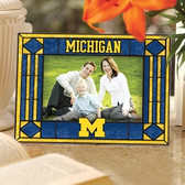 Michigan Wolverines Art Glass Horizontal Picture Frame