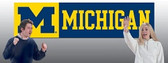 Michigan Wolverines 8' Banner