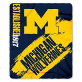 Michigan Wolverines 50x60 Fleece Blanket - College Painted Design