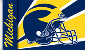Michigan Wolverines 3 Ft. x 5 Ft. Flag w/Grommets - Helmet Design