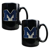 Michigan Wolverines 2pc Coffee Mug Set