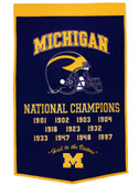 "Michigan Wolverines 24""x36"" Wool Dynasty Banner"