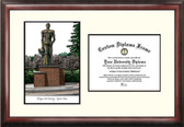 Michigan State University: Spartan Statue Scholar Framed Lithograph with Diploma