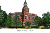 Michigan State University: Linton Hall Lithograph