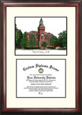 Michigan State University: Linton Hall Scholar Framed Lithograph with Diploma