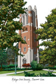 Michigan State University: Beaumont Tower Lithograph
