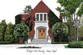 Michigan State University: Alumni Chapel Lithograph