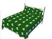 Michigan State Spartans Solid Sheet Set (King)