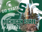 Michigan State Spartans Printed Canvas