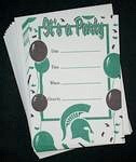 Michigan State Spartans Party Invitations