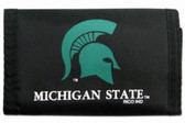 Michigan State Spartans Nylon Trifold Wallet