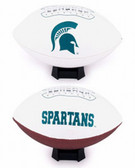 Michigan State Spartans Full Size Embroidered Football