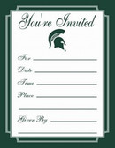 Michigan State Spartans Formal Invitations
