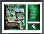 Michigan State Spartans Fight Song Milestones & Memories Framed Photo