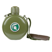 Michigan State Spartans Colored Logo Canteen with Compass