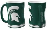 Michigan State Spartans Coffee Mug - 15oz Sculpted