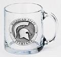 Michigan State Spartans Clear Coffee Mug Set