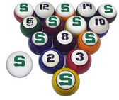 Michigan State Spartans Billiard Ball Set