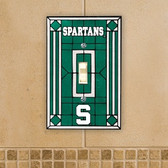 Michigan State Spartans Art Glass Switch Cover