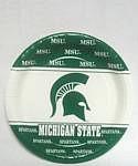 "Michigan State Spartans 7"" Dessert Paper Plates"