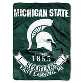 "Michigan State Spartans 60""x80"" Royal Plush Raschel Throw Blanket - Rebel Design"