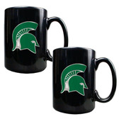 Michigan State Spartans 2pc Coffee Mug Set