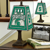 "Michigan State Spartans 14"" Art Glass Table Lamp"