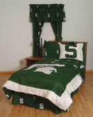 Michigan State Bed in a Bag Twin - With Team Colored Sheets