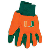 Miami Hurricanes Two Tone Gloves - Adult