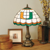 Miami Hurricanes Tiffany Table Lamp