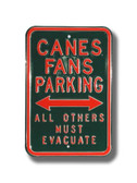 Miami Hurricanes Others must Evacuate Parking Sign