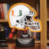Miami Hurricanes Neon Helmet Desk Lamp