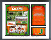 Miami Hurricanes Milestones & Memories Framed Photo