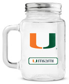Miami Hurricanes Mason Jar Glass With Lid