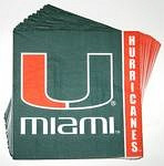 Miami Hurricanes Lunch Napkins