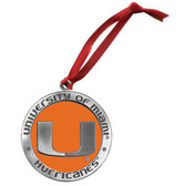 Miami Hurricanes Logo Ornament