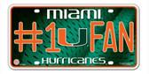Miami Hurricanes License Plate - #1 Fan