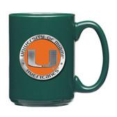 Miami Hurricanes Green Coffee Mug Set