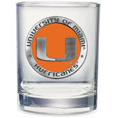 Miami Hurricanes Double Old Fashioned Glass Set