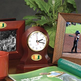 Miami Hurricanes Desk Clock