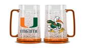Miami Hurricanes Crystal Freezer Mug
