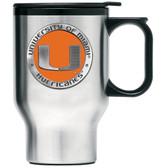 Miami Hurricanes Colored Logo Travel Mug