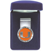 Miami Hurricanes Colored Logo Money Clip
