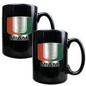 Miami Hurricanes Coffee Mug Set