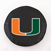 Miami Hurricanes Black Tire Cover, Large