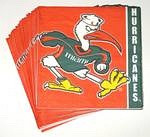 Miami Hurricanes Beverage Napkins