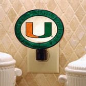 Miami Hurricanes Art Glass Nightlight
