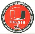 "Miami Hurricanes 9"" Dinner Paper Plates"